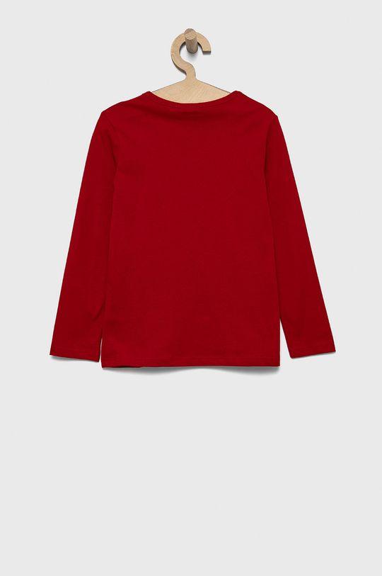 United Colors of Benetton - Detská bavlnená košeľa s dlhým rukávom červená