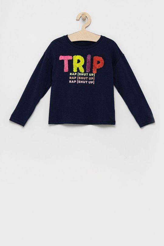 tmavomodrá United Colors of Benetton - Detská bavlnená košeľa s dlhým rukávom Dievčenský