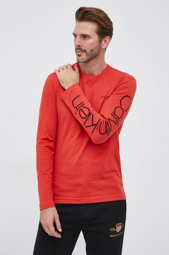 czerwony Calvin Klein - Longsleeve Męski