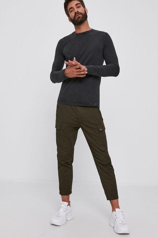 Tigha - Tričko s dlouhým rukávem Benjiro šedá