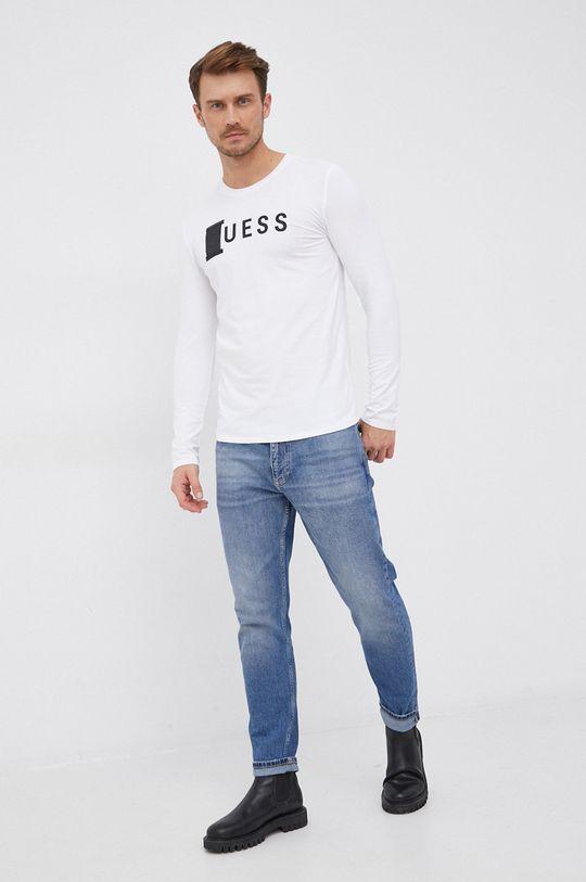 Guess - Tričko s dlouhým rukávem bílá