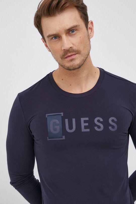 námořnická modř Guess - Tričko s dlouhým rukávem