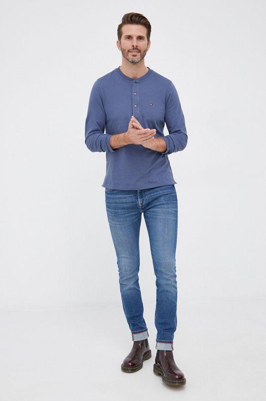 Tommy Hilfiger - Longsleeve bawełniany niebieski