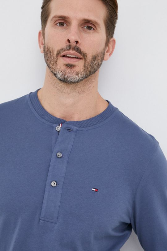 niebieski Tommy Hilfiger - Longsleeve bawełniany