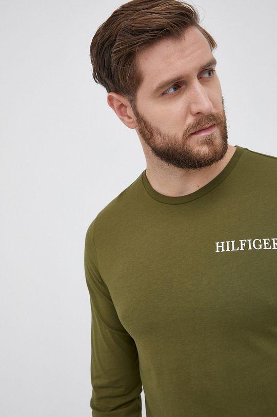 zielony Tommy Hilfiger - Longsleeve bawełniany