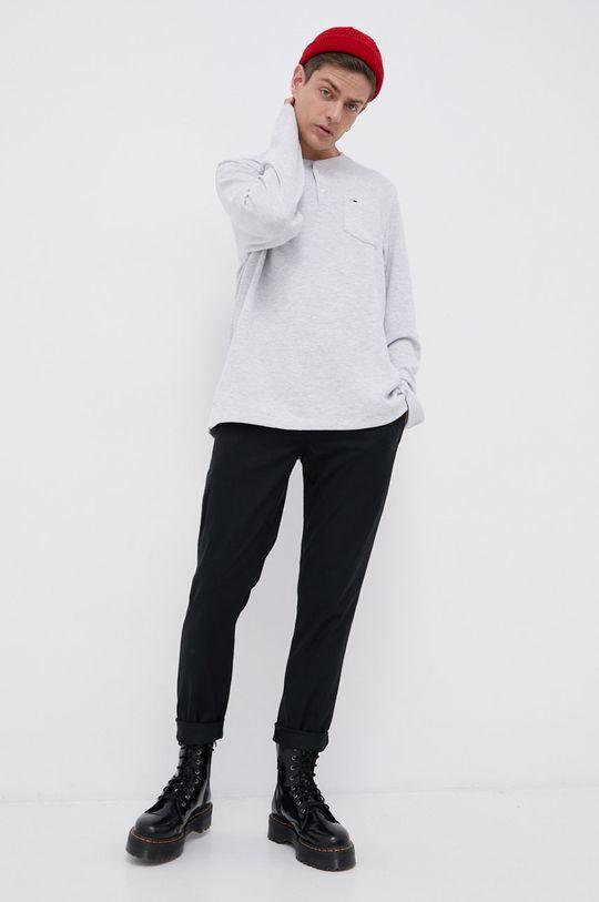 Tommy Jeans - Longsleeve jasny szary