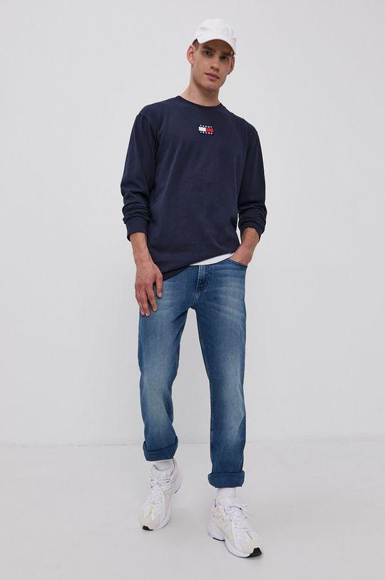 Tommy Jeans - Tričko s dlouhým rukávem námořnická modř