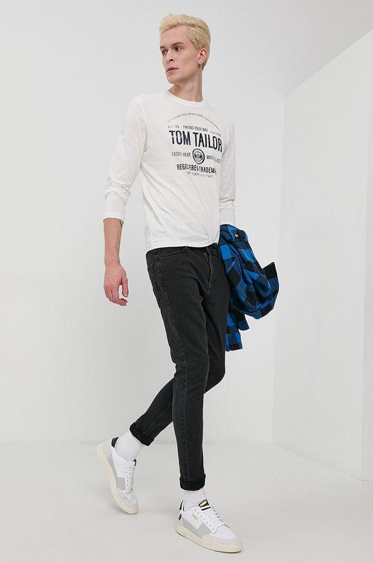biały Tom Tailor - Longsleeve bawełniany Męski