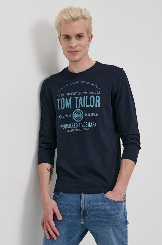bleumarin Tom Tailor - Longsleeve din bumbac De bărbați