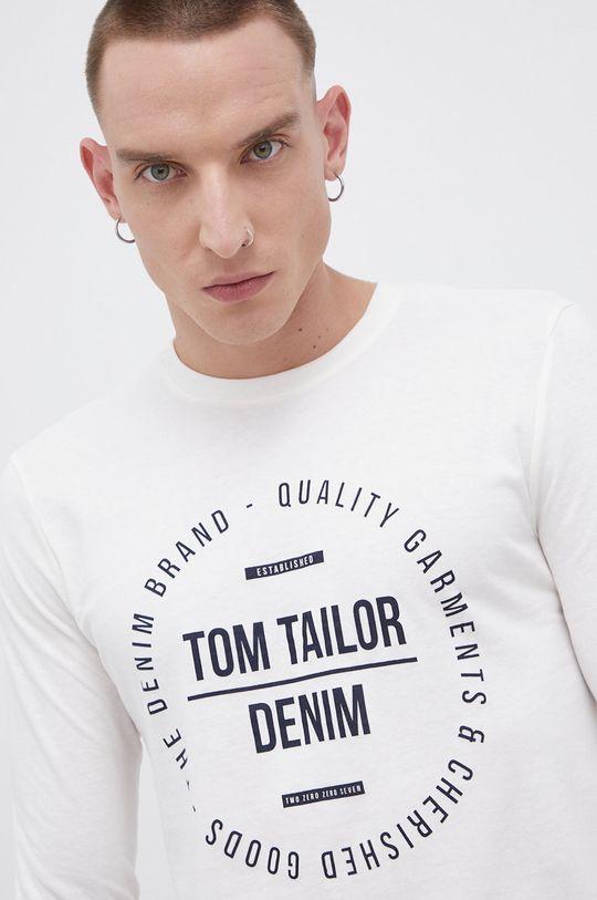 beżowy Tom Tailor - Longsleeve bawełniany Męski