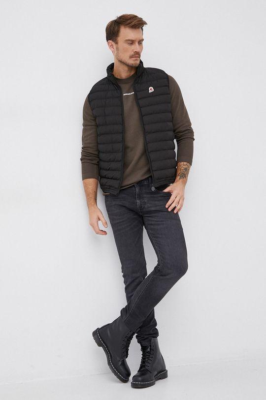 Calvin Klein Jeans - Bavlněné tričko s dlouhým rukávem okrová