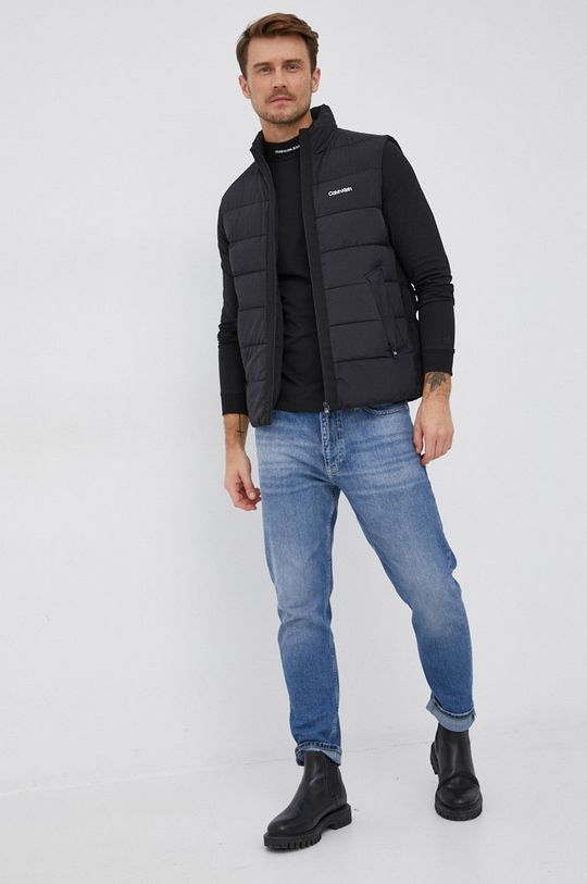 Calvin Klein Jeans - Tričko s dlouhým rukávem černá