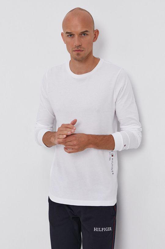 bílá Tommy Hilfiger - Tričko s dlouhým rukávem Pánský