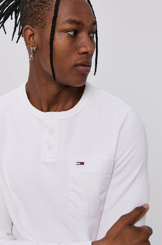 bílá Tommy Jeans - Tričko s dlouhým rukávem
