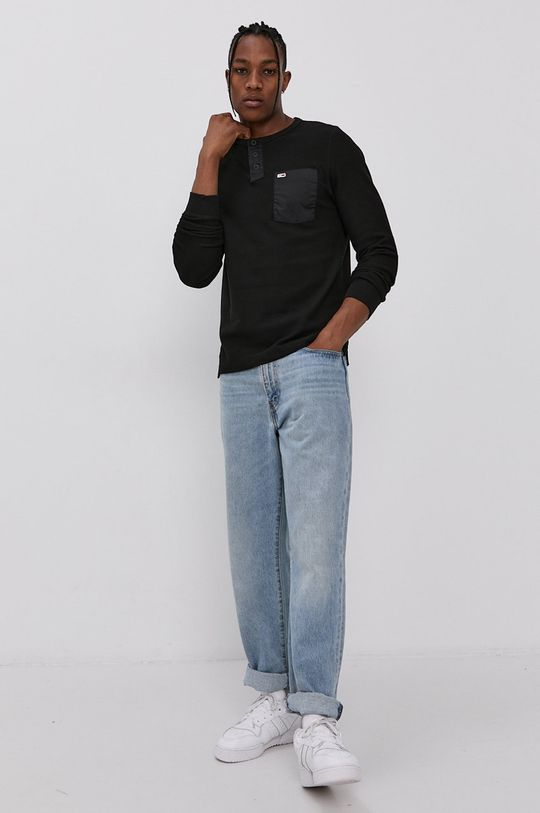 Tommy Jeans - Tričko s dlouhým rukávem černá