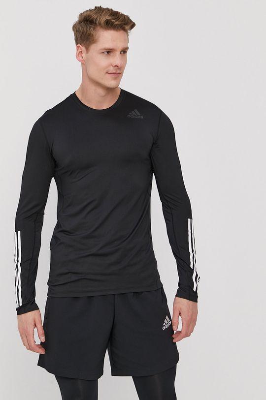negru adidas Performance - Longsleeve De bărbați