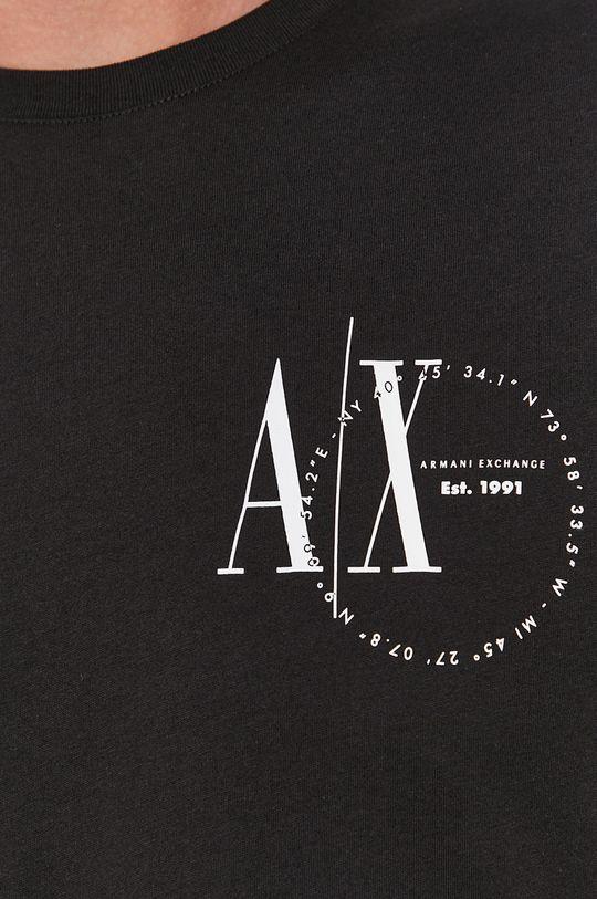 černá Armani Exchange - Tričko s dlouhým rukávem