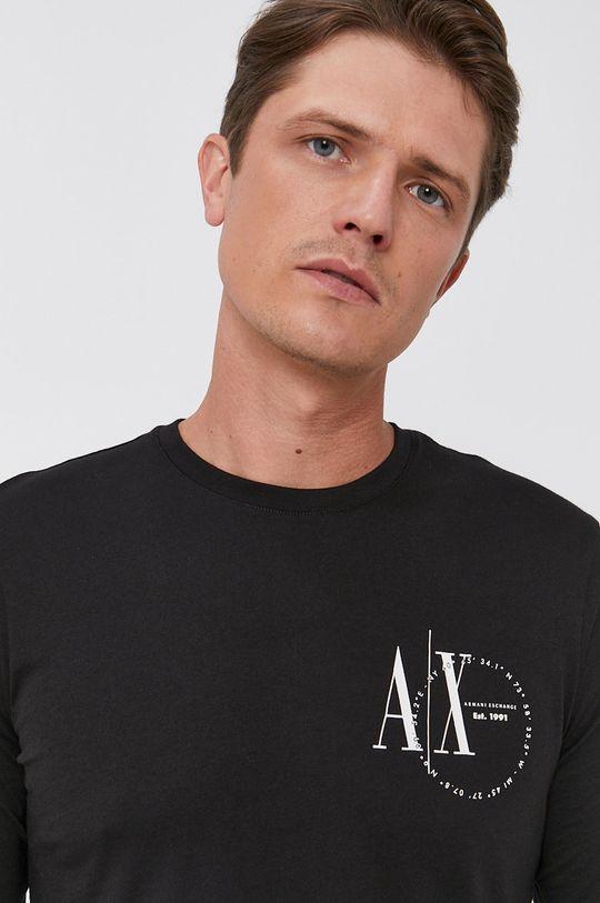 Armani Exchange - Tričko s dlouhým rukávem Pánský