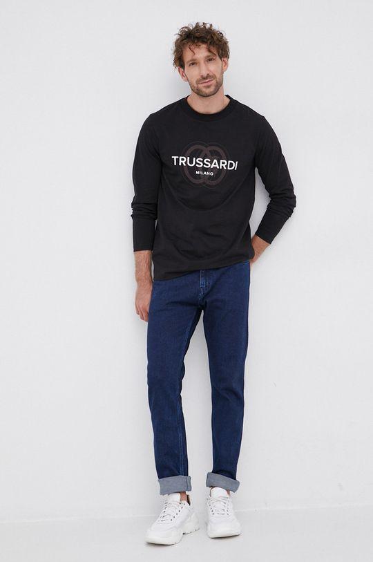 Trussardi - Longsleeve din bumbac negru