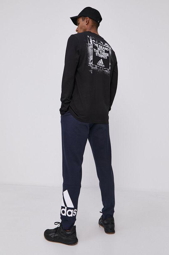 czarny adidas - Longsleeve Męski