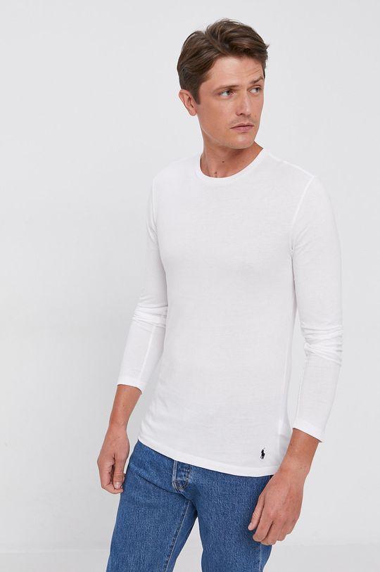 biały Polo Ralph Lauren - Longsleeve bawełniany (3-pack) Męski