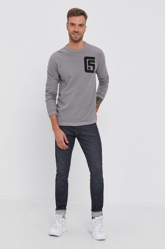 G-Star Raw - Tričko s dlouhým rukávem šedá