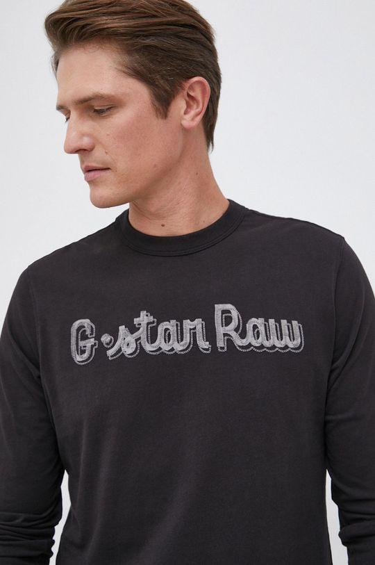 czarny G-Star Raw - Longsleeve bawełniany