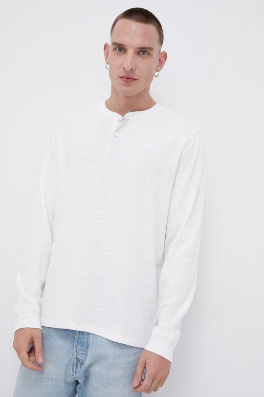 Lee - Longsleeve bawełniany biały