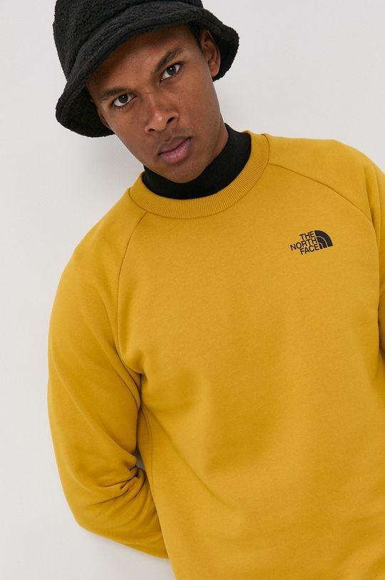 żółty The North Face - Bluza bawełniana