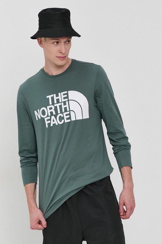 verde murdar The North Face - Longsleeve din bumbac De bărbați
