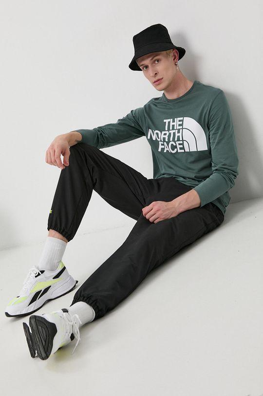 The North Face - Longsleeve din bumbac verde murdar