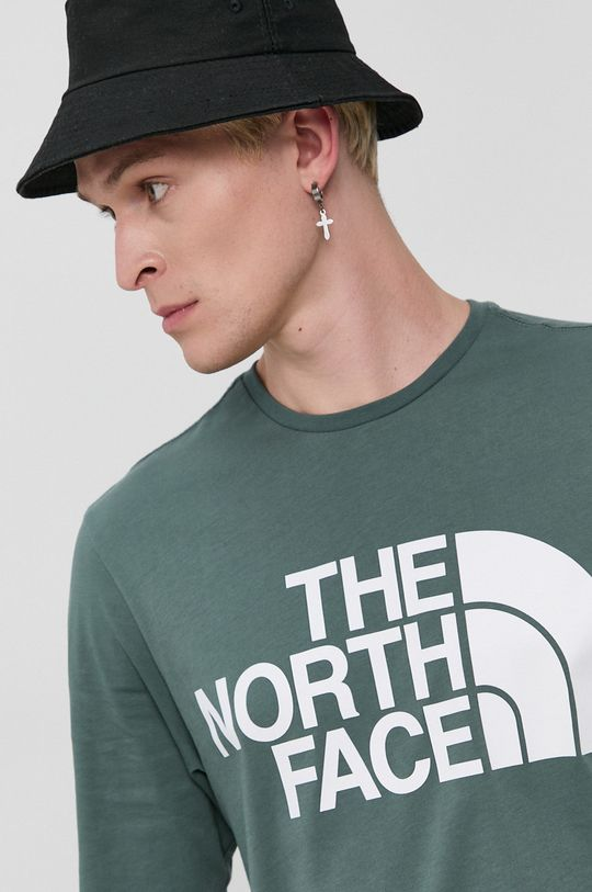verde murdar The North Face - Longsleeve din bumbac