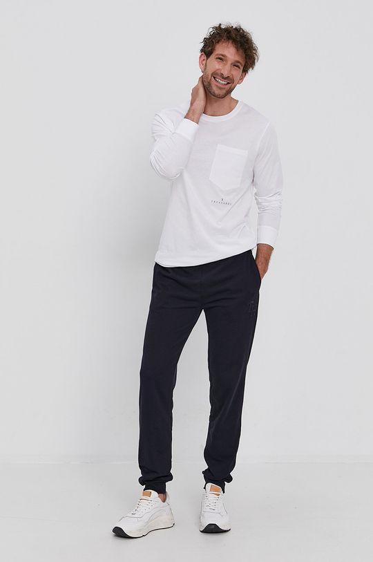 biały Trussardi - Longsleeve bawełniany Męski