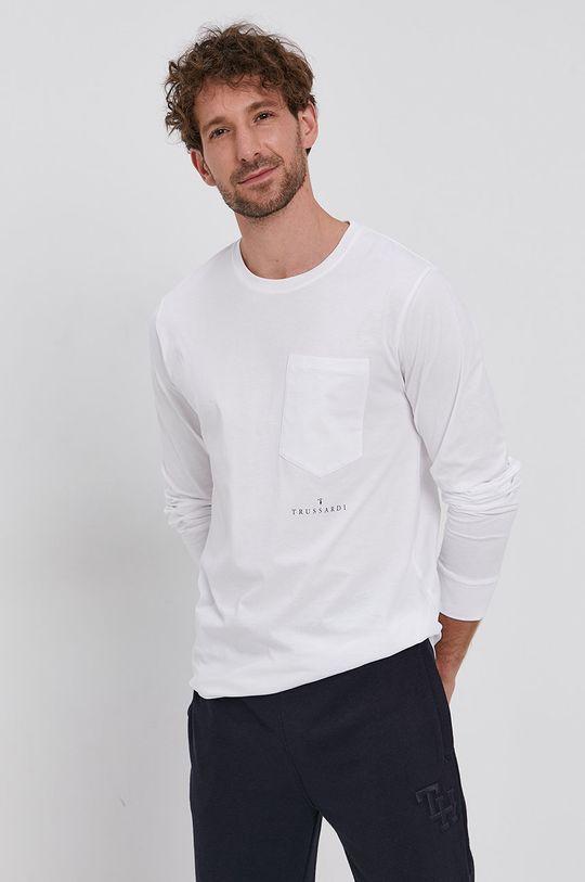Trussardi - Longsleeve bawełniany biały