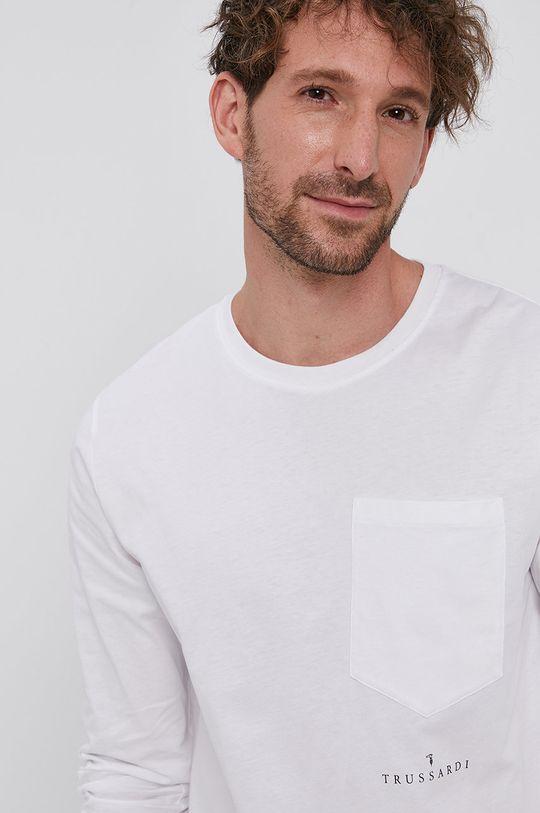 biały Trussardi - Longsleeve bawełniany