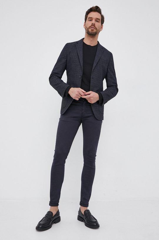 Trussardi - Longsleeve bawełniany czarny