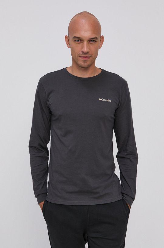 černá Columbia - Tričko s dlouhým rukávem Pánský