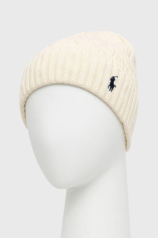 Polo Ralph Lauren - Czapka kremowy