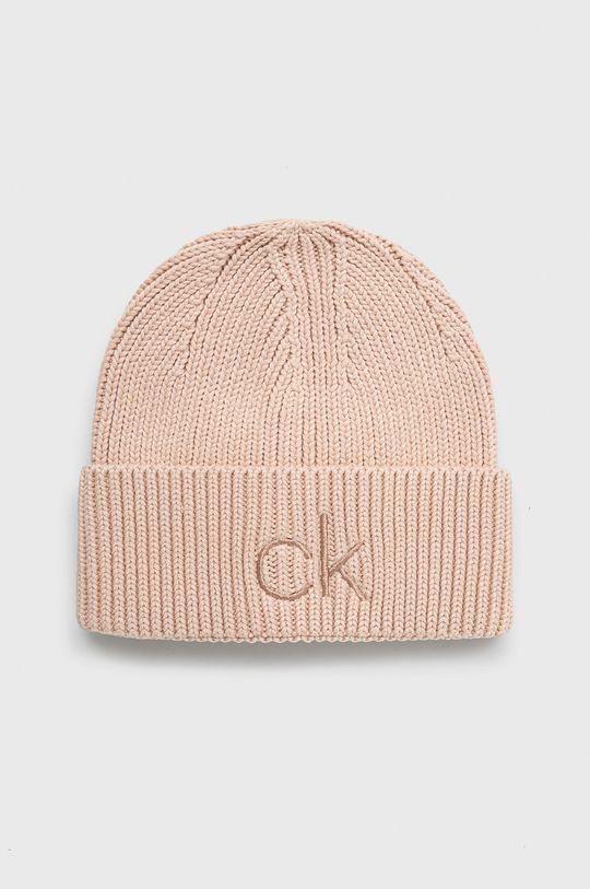 pastelowy różowy Calvin Klein - Czapka Damski