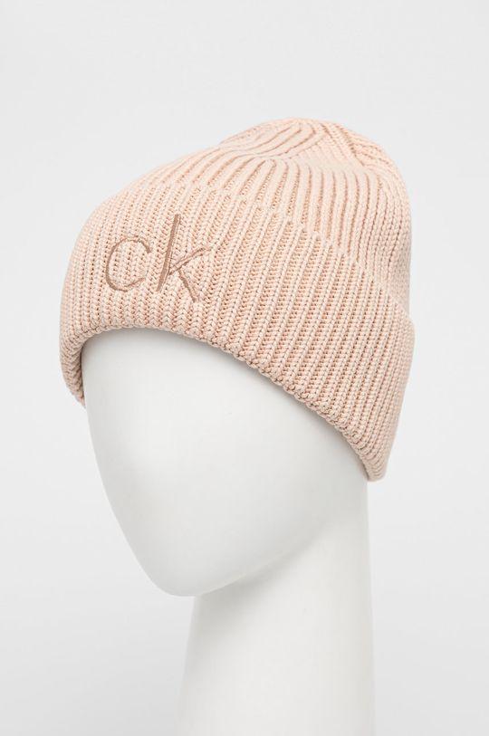 Calvin Klein - Czapka pastelowy różowy