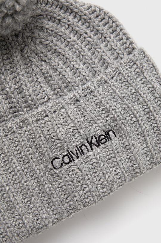 Calvin Klein - Czapka z domieszką wełny 5 % Kaszmir, 35 % Poliamid, 30 % Wełna, 30 % Wiskoza