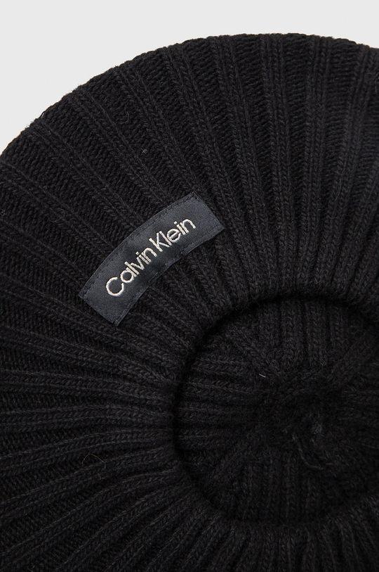 Calvin Klein - Beret z domieszką wełny 5 % Kaszmir, 35 % Poliamid, 30 % Wełna, 30 % Wiskoza