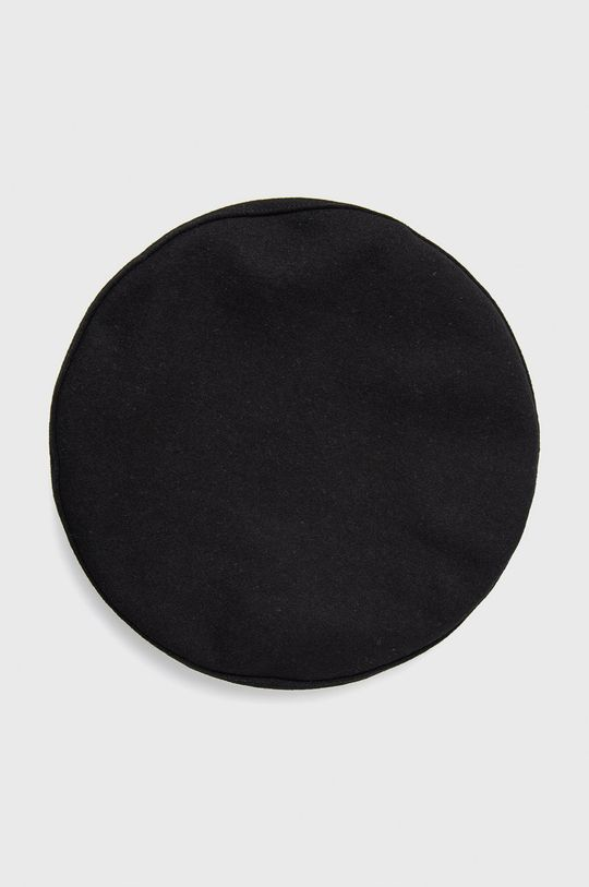 Calvin Klein - Kaszkiet wełniany czarny