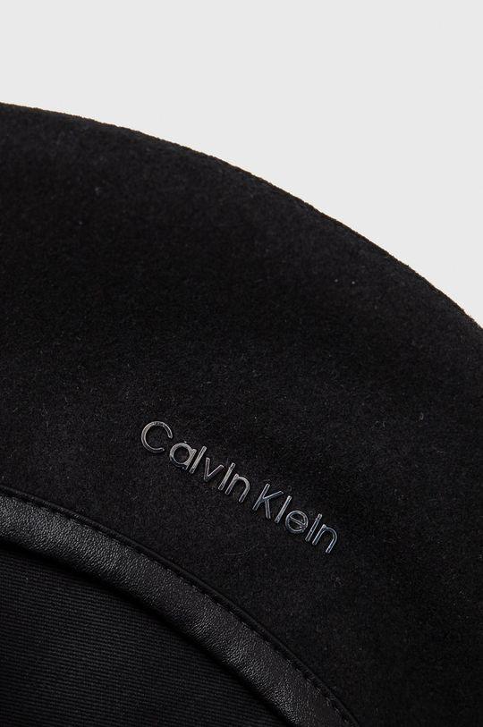 czarny Calvin Klein - Kaszkiet wełniany