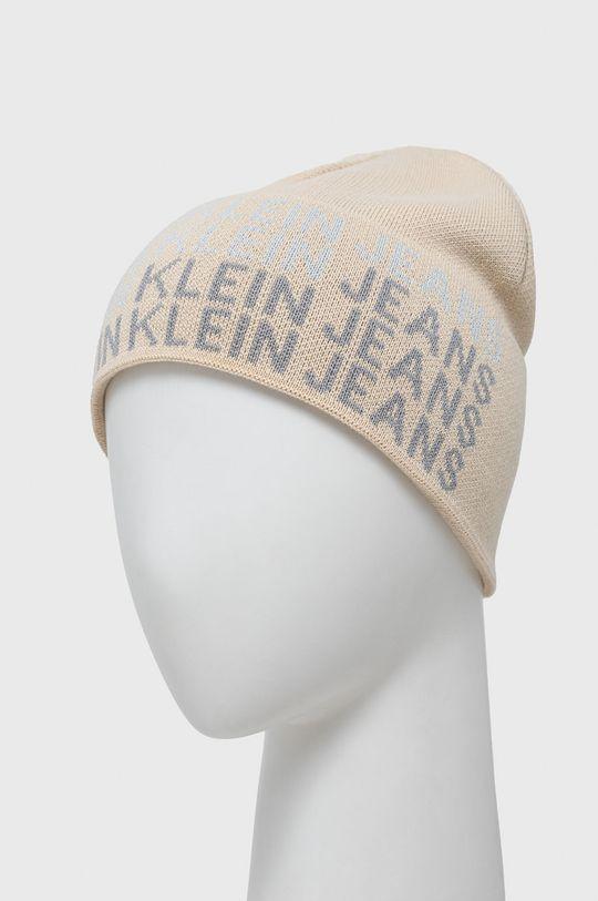 Calvin Klein Jeans - Czapka i szalik cielisty