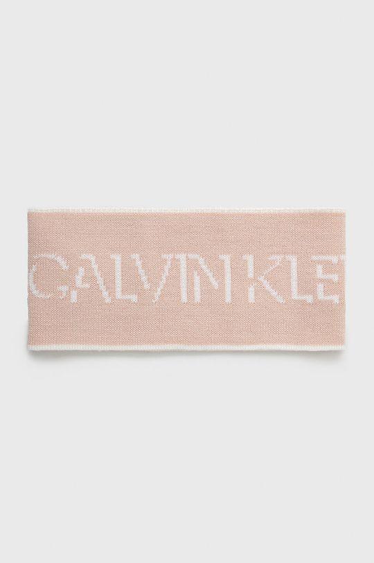 różowy Calvin Klein Jeans - Opaska wełniana Damski