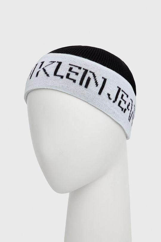 Calvin Klein Jeans - Czapka wełniana czarny