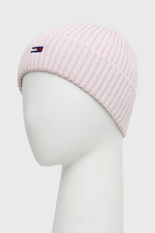 Tommy Jeans - Czapka pastelowy różowy