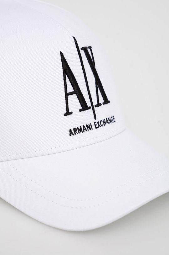 Armani Exchange - Czapka biały