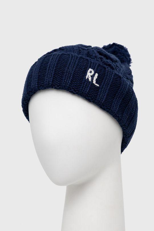 Polo Ralph Lauren - Čepice z vlněné směsi námořnická modř